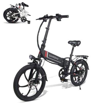 SAMEBIKE - Migliore bici elettrica pieghevole per rapidità di chiusura