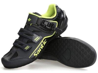 Santic - Migliori scarpe per bici economiche per elementi in gomma a forma di diamante