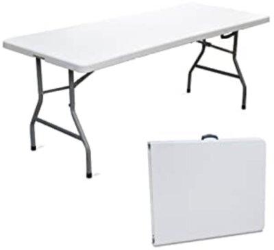 SF SAVINO FILIPPO - Migliore tavolino pieghevole da campeggio per ripiano in resina bianca
