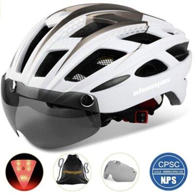 Shinmax - Corsa - Migliore casco da bici per luce a LED di sicurezza