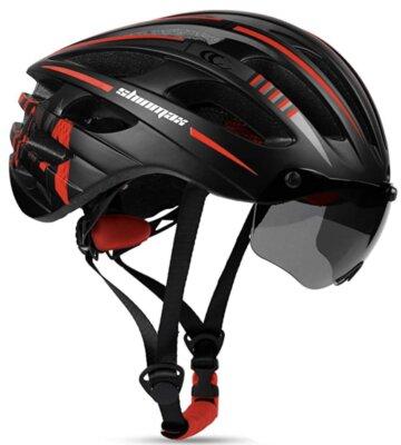 Shinmax - Corsa - Migliore casco da bici per visiera con 3 magneti
