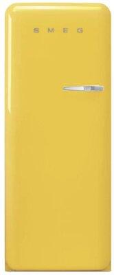 Smeg FAB28LYW3 - Migliore frigorifero Smeg monoporta per design anni '50 giallo con cerniera a sinistra