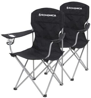 Songmics - Migliore sedia pieghevole da campeggio in set da 2 per semplicità