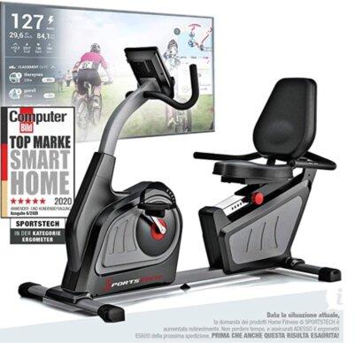 Sportstech - Migliore cyclette orizzontale per sedile ad alta tenuta
