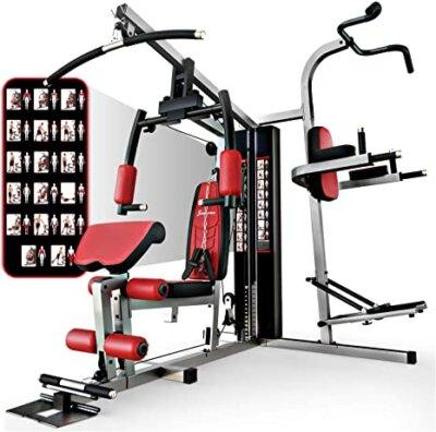 sportstech - migliore panca e stazione fitness multifunzione con sacca da boxe