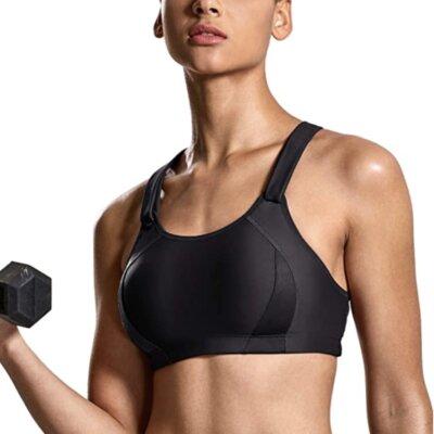 Syrokan - Migliore reggiseno sportivo da fitness per coppe imbottite a copertura totale
