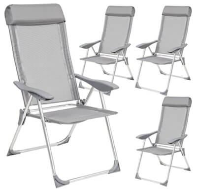 TecTake - Migliore sedia pieghevole da campeggio per set da 4