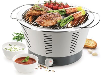 Tescoma - Migliore barbecue senza fumo per semplicità di ricarica della carbonella