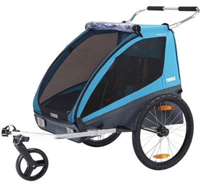 Thule - Migliore rimorchio bici per bambini per semplice conversione da rimorchio a passeggino