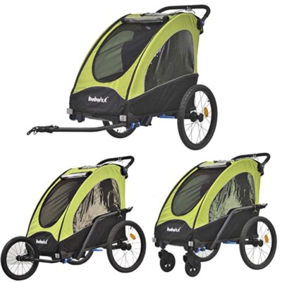 Tiggo World - Migliore rimorchio bici per bambini per 2 set jogging inclusi