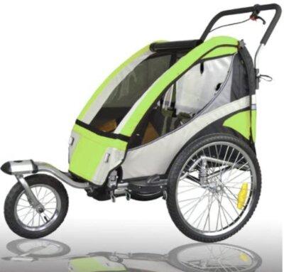 Tiggo World - Migliore rimorchio bici per bambini per catarifrangenti su ogni lato e bandierina