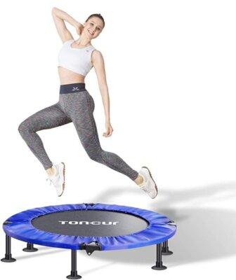 Toncur - Migliore mini trampolino elastico da fitness per assorbimento degli urti