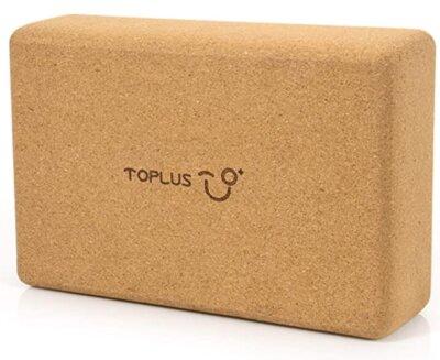 TOPLUS - Migliore blocco da yoga singolo in sughero