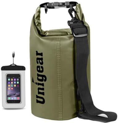 Unigear - Migliore sacca stagna per tracolla regolabile con doppio cinturino imbottito