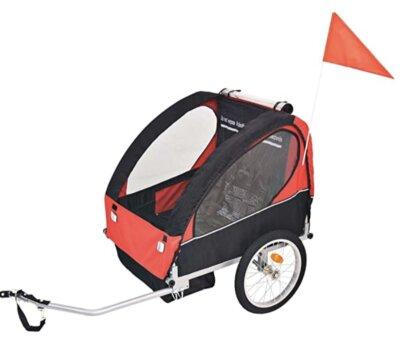 VidaXL - Migliore rimorchio bici per bambini per catarinfrangenti sulle ruote