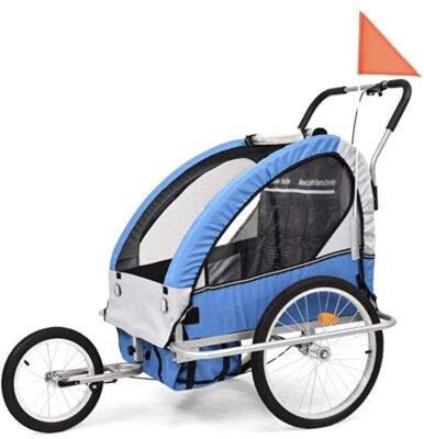 VidaXL - Migliore rimorchio bici per bambini per freno a mano sulla ruota anteriore