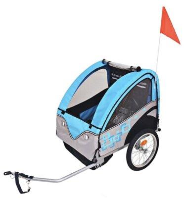 VidaXL - Migliore rimorchio bici per bambini per gancio ad attacco rapido