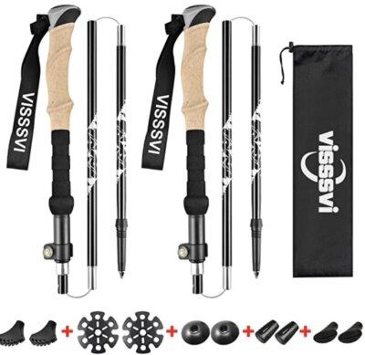 Visssvi - Migliori bastoncini da nordic walking per compattezza