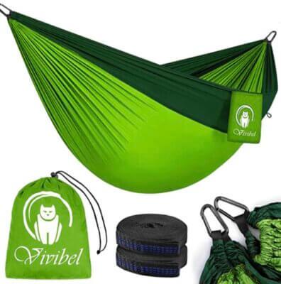 Vivibel - Migliore amaca da campeggio in nylon paracadute 210T