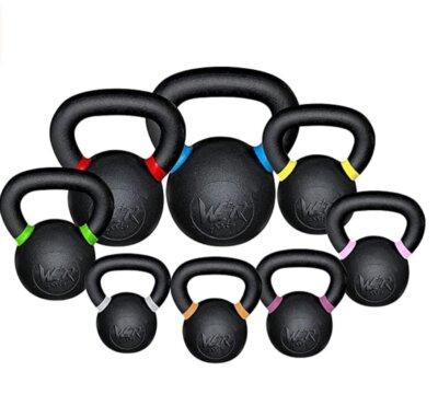we r sports - migliore kettlebell per colore nero con fasce colorate