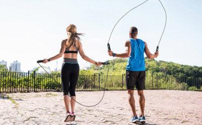 workout con corda per saltare
