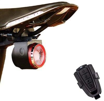 XIAOKOA - Migliore luce per bici posteriore per telecomando senza fili e allarme