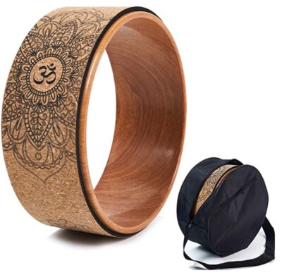YANBINGJIE - Migliore ruota da yoga con strato esterno in TPE e sughero