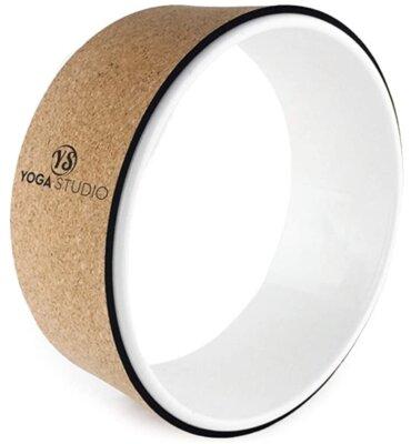 YogaStudio - Migliore ruota da yoga per anello bianco e sughero esterno